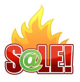 text för brandillustrationonline-försäljning Royaltyfri Fotografi