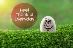 Feel thankful everyday stock photography