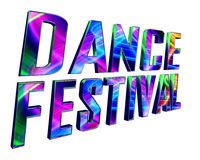 Text festival dance on a white background. 3d illustration. Text festival dance on a white background Royalty Free Stock Photo