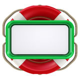 Text field in the lifebuoy Stock Photography