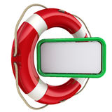 Text field in the lifebuoy Stock Photos