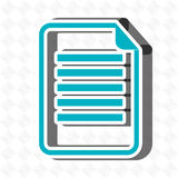 Text file design. Illustration eps10 graphic Stock Photography