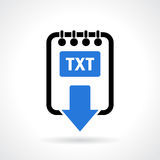 Text file download icon. Text file download vector icon Stock Photos