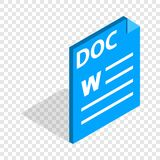 Text file format DOC isometric icon Stock Photography