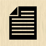 Text file icon design. Illustration eps10 graphic Stock Photo