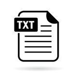 Text file icon Stock Image