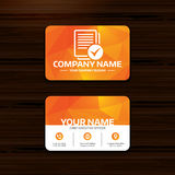 Text file sign icon. Check File document symbol. Royalty Free Stock Photo