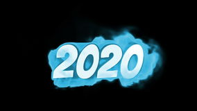 2020. text on fire. word in fire. high turbulence. Text in flames. Fire word. stock footage