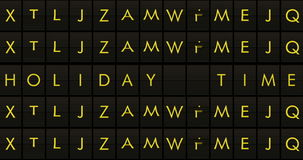 Text flip of board of airport billboard departures with city name holiday time stock footage