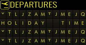Text flip of board of airport billboard departures with city name holiday time stock video