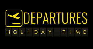 Text flip of board of airport billboard with words name holiday time stock video footage