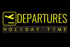 Free Text Flip Of Board Of Airport Billboard With Words Name Holiday Time, Travel, Holiday And Relax Royalty Free Stock Image - 84545336