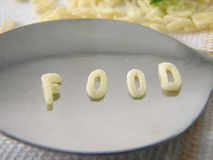 Text Food Made Of Soup Letters Royalty Free Stock Image