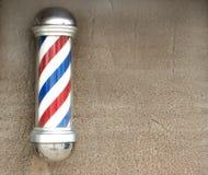 text för avstånd för barberarepol s Royaltyfri Fotografi