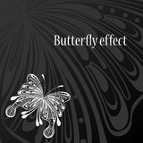 Text frame with abstract butterfly Stock Photography