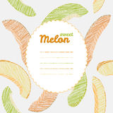 Text frame. Autumn melon backdrop. Endless harvest texture, Repeating backdrop. Royalty Free Stock Image