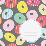Text frame. Doughnut illustration. Tasty Donuts. Royalty Free Stock Photo