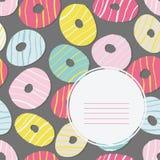 Text frame. Doughnut illustration. Tasty Donuts. Royalty Free Stock Photo