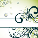 Text frame with floral design Stock Photography