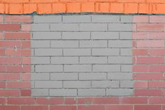 Text frame painted on a brick wall.abstract background royalty free stock image