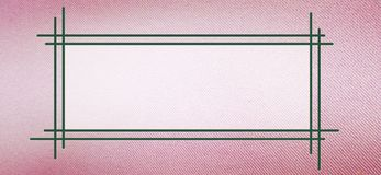 Text frame on pink cloth texture stock illustration