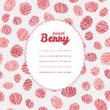 Text frame. Seamless rapsberry background, endless fruit texture. Royalty Free Stock Photo