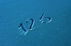 Text 123  on a frost Stock Photos