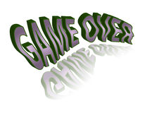 Text - game over Royalty Free Stock Photo