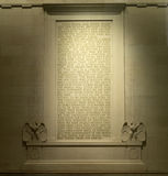 Text of the Gettysburg Address at the Lincoln Memorial in Washington, DC Royalty Free Stock Photo