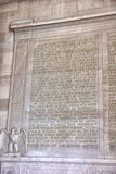 Text of the Gettysburg Address at the Lincoln Memorial in Washington, DC Royalty Free Stock Image