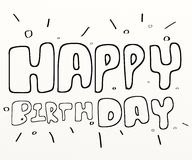 Text glückliches Birthday Lizenzfreies Stockbild