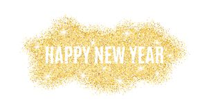 The text is from gold particles for the New Year. Gold glitter. Christmas lights. Christmas golden background for banner, flyer. G. Old dust. Gold shine. Vector Royalty Free Stock Photo