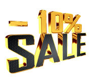 Text with golden letters with the number of selling prices on a white background. 3d illustration. Text with golden letters with the number of selling prices on Royalty Free Stock Photography