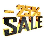 Text with golden letters with the number of selling prices on a white background. 3d illustration. Text with golden letters with the number of selling prices on Stock Image