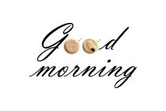 Text good morning Royalty Free Stock Photo