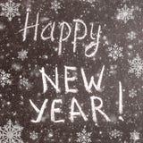 Text-guten Rutsch ins Neue Jahr 2017 auf Tafel Stockfotografie
