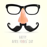 Text happy april fools day Stock Photography