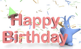 Text Happy Birthday Stock Photography