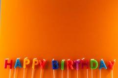 Text Happy Birthday Stock Photography