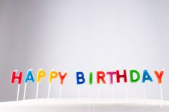 Text Happy Birthday Royalty Free Stock Images