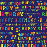 Text HAPPY BIRTHDAY seamless pattern Royalty Free Stock Photo