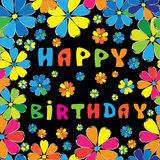 Text HAPPY BIRTHDAY seamless pattern Stock Images