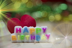 Text Happy Birthday View Beautiful Stock Photography