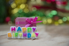 Text Happy Birthday View Beautiful Royalty Free Stock Photo