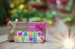 Text Happy Birthday View Beautiful Stock Images