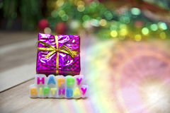 Text Happy Birthday View Beautiful Royalty Free Stock Photography