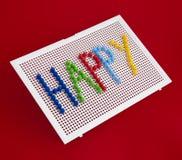 Text Happy on child mosaic Stock Image