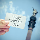 Text Happy Columbus Day Stock Photos