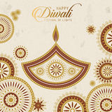 Text happy diwali stock illustration