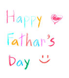 Text happy father's day Stock Photography